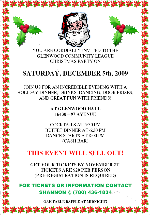 The Glenwood Community League Christmas Party Family