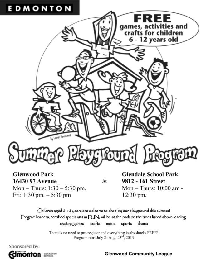 2013 playground poster