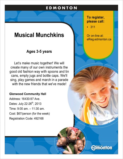 2013 Poster for Musical Munchkins -RC